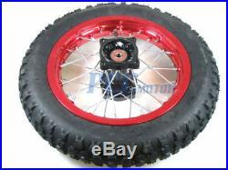 12 15MM RED REAR RIM DISC BRAKE WHEEL HONDA SDG COOLSTER 107 125cc M WM07R