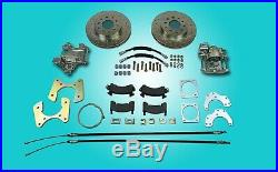 1955 1956 1957 Chevrolet rear disc brake conversion with parking brake cables