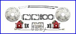 1964-1972 GM A- Body Performance Front & Rear Disc Brake Kits, Red Caliper