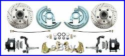 1964-72 GM A Body Front/Rear Power Disc Brake Kit Black Calipers & Control Arms