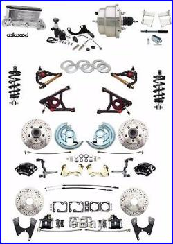 1964-72 GM A Body Wilwood Front Rear Disc Brake Kit Chrome A Arms Coil Overs
