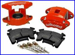 1964-73 Ford Mustang 9 Rear Disc Brake Conversion, D/S Rotors & Red Wilwood