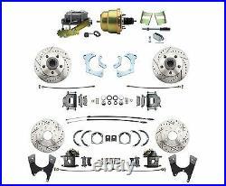 1965-68 Chevy Impala High Performance 4 Wheel Disc Brake Power Zinc Conversion