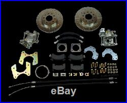 1968-1972 Chevelle gto rear disc brake conversion braided hoses parking brakes