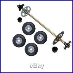 22m Go Kart Rear Axle kit 740mm with wheel + Brake disc Sprocket Drift Trike Buggy