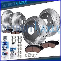 305mm Front & 325mm Rear DRILL Brake Rotor + Ceramic Pad Chevy Tahoe Yukon GMC