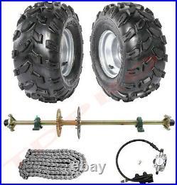 44 Go Kart Rear Live Axle Kit Brake Disc Caliper Sprocket Wheels Quad Buggy ATV
