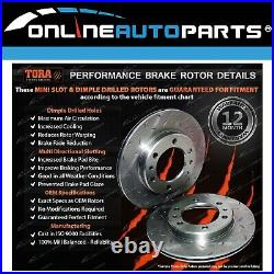 4 Front+Rear Slotted+Drilled Disc Rotors V6 V8 Commodore VT VX VU VY VZ Brake