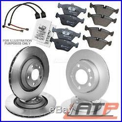 4x Brake Disc + Pads + Wear Sensor Front + Rear Bmw X5 E53 3.0 4.4