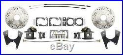 64-72 GM A Body 10 12 Bolt Rear Disc Brake Conversion Kit Drilled Slotted Rotors