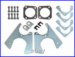64-81 all GM 10 12 Bolt Rear Axle End Disc Brake Conversion Caliper Bracket Set