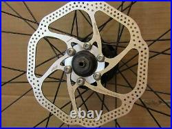700c (28) Hybrid 29 MTB Bike Front Rear Disc Rim Brake Wheel Set 8/9/10 Speed