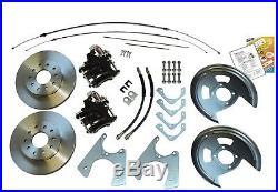 70-81 F Staggered Shock Rear End Axle Disc Brake Conversion Kit 10/12 Bolt Std