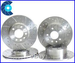 ASTRA TURBO GSi Drilled Grooved Brake Discs Front Rear