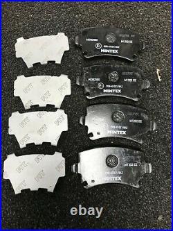AUDI A3 2.0TDI 170bhp S-LINE SPORT CROSS DRILLED BRAKE DISCS MINTEX BRAKE PADS