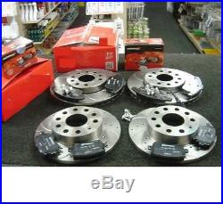 AUDI A4 3.0TDi QUATTRO B7 BRAKE DISC CROSS DRILLED GROOVED BRAKE PADS FRONT REAR