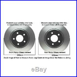 AWD Front & 320mm Rear Brake Rotors + Ceramic Pad for DODGE Charger CHRYSLER 300