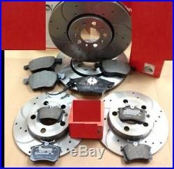 Audi A3 2.0 140 8p Drilled Grooved Performance Brake Discs & Pads Front Rear Set