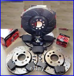 Audi A3 S3 Quattro 8l1 99-03 Front Rear Drilled Grooved Brake Discs Mintex Pads