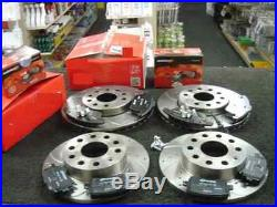 Audi A4 B8 2.0tdi S Line Brake Disc Drilled Grooved Fr Rear Pads 314 MM 300mm