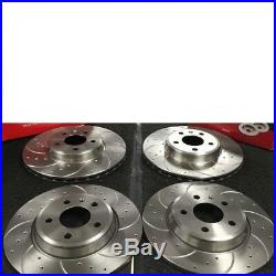 Audi A4 B8 2.0tdi S Line Brake Disc Drilled Grooved Front Rear 314 MM 300mm