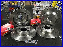 Audi Q7 3.0 3.6 4.2 6.0 Performance Brake Disc Cross Drilled Front Rear Pads