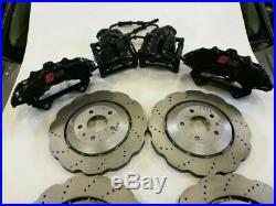 Audi Rs4 Rs5 B8.5 Complete Brakes Callipers Front Rear With Wavy Discs Black