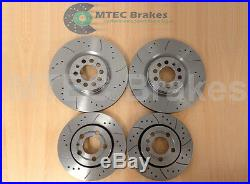 Audi TT 1.8T 225bhp 99-05 Front Rear MTEC Drilled Grooved Brake Discs & Pads