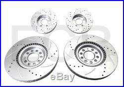 Audi TT Quattro MK1 1.8T Brake Disc Drilled Grooved Front & Rear + Pads
