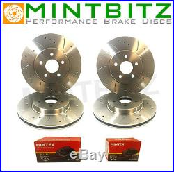 BMW 320d E90/E91/E92 Drilled And Grooved Front Rear Pads Brake Discs 05