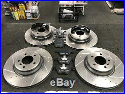 BMW 335i 335d E92 BRAKE DISC FRONT REAR BREMBO CROSS DRILLED GROOVED MINTEX PADS