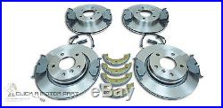 BMW E46 320 320d 325 FRONT AND REAR BRAKE DISCS & PADS SHOES SENSORS FITTING KIT