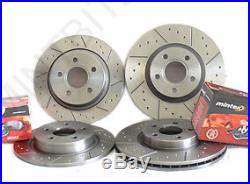 BMW E46 320 325 328 Front Rear Brake Discs and Pads Dimpled & Grooved