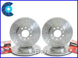 BMW E46 325i 325ci MTEC FRONT REAR Drilled Grooved Brake Discs and Mintex Pads