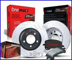 BREMAXX SLOTTED DRILLED FRONT REAR BRAKE DISC ROTORS & H/D PADS PRADO 120 Series