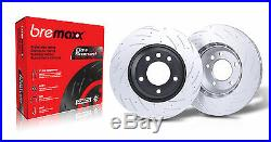 BREMBO pads & BREMAXX slotted disc brake rotors FRONT + REAR LANDCRUISER VDJ79R