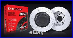 BREMBO pads & BREMAXX slotted disc brake rotors FRONT + REAR SKYLINE R33 GTS-T