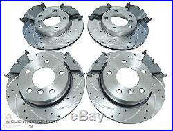 Bmw E36 328 Front & Rear Drilled & Grooved Brake Discs And Mintex Pads Set New