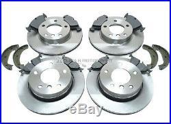 Bmw E46 320d 320 Diesel 01-04 Front & Rear Brake Discs & Pads & Handbrake Shoes