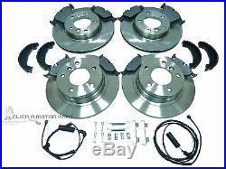 Bmw E90 320d 320 D Front & Rear Brake Discs & Pads Shoes Sensors & Fitting Kit