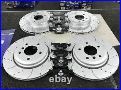 Bmw F07 F10 F11 F12 Drilled Grooved Brake Disc Mintex Brake Pad Front Rear
