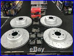 Bmw M135i F20 Drilled Grooved Brake Discs Mintex Brake Pad Front Rear 340+345
