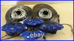 Bmw M3 M4 F80 F82 3.0 Petrol Set Of Brembo Brake Calipers Discs Pads Front Rear