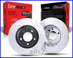 Bremaxx Slotted Pair Front & Rear Disc Brake Rotors & Pads Ford Falcon Ba Bf Fg