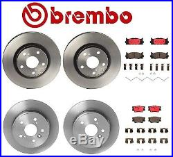 Brembo Brake Kit Front & Rear Disc Rotors Ceramic Pads for Toyota Camry Avalon