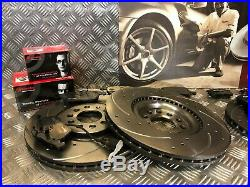Brembo Front & Rear Drilled & Grooved Discs & Pads Audi Tt S3 1.8t Quattro 225
