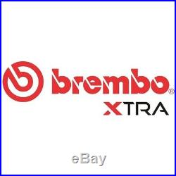 Brembo Xtra Rear Solid High Carbon Drilled Brake Disc Pair Discs x2 08. A759.1X