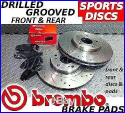 CLIO CUP 2.0i 172 182 FRONT & REAR Drilled/Grooved Brake Discs & BREMBO Pads