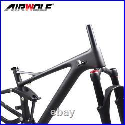Carbon Full Suspension MTB Frame 29ER Mountain Bike Enduro Frames Fork 15/17/19