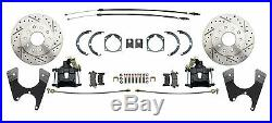 Chevy BelAir 55-58 Front & Rear Wilwood Disc Brake Chrome Booster Conversion Kit